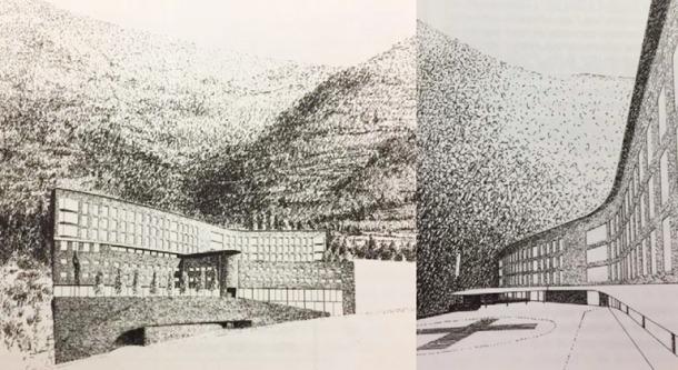 La terrassa de la planta baixa, on avui hi ha el restaurant, s'havia projectat inicialment com a heliport.