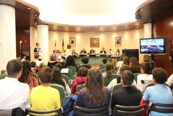 Un moment del Consell d'Infants celebrat ahir a Encamp.