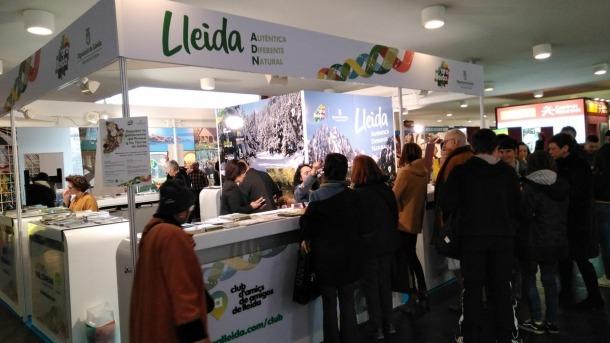 Estand de la Diputació de Lleida a la Fira Navartur de Pamplona (Navarra).