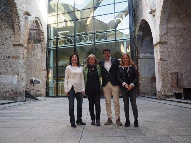 La directora general de Cooperació Cultural de la Generalitat de Catalunya es va reunir amb les autoritats de la Seu.