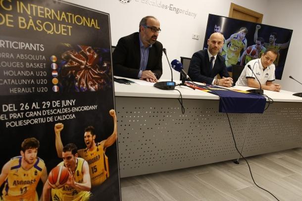 Joaquim Tomàs, Jordi Vilanova i David Eudal van presentar ahir el torneig.
