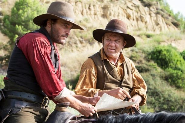 Joaquin Phoenix i John C. Reilly són els germans Eli i Charlie Sisters, els pistolers que protagonitzen 'The Sisters Brothers'.