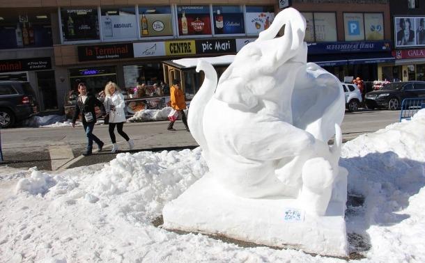 'Prosperitat', l'escultura amb què Xavi Casals i Arnau Orobitg es van endur el 2017 el premi del públic.