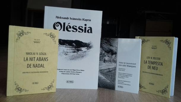 Quatre dels títols apareguts fins a la data: l'últim, 'Oléssia', d'Aleksandr I. Kuprín.