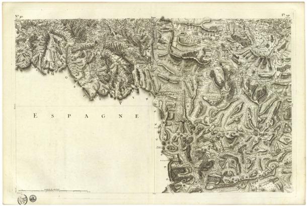 Andorra, mapa, carte de france, Cassini, Lengelée, David Rumsey Map Collection