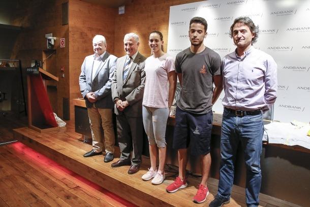 Un moment de la presentació de l'equipament oficial per als Jocs Mediterranis.