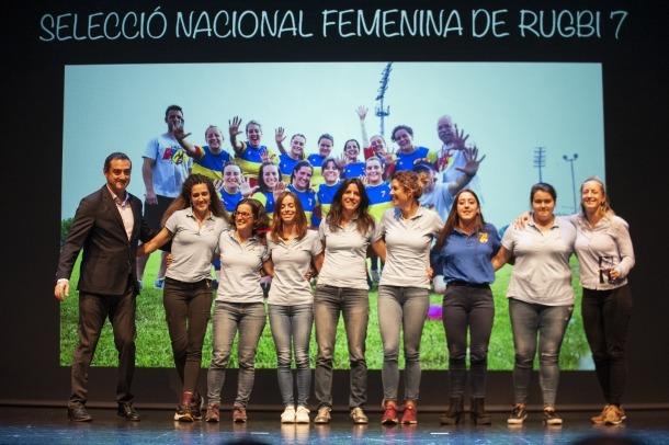 La selecció nacional femenina de rugbi de 7, el millor equip de la temporada.