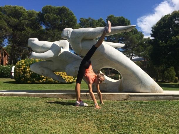 Maria González és la primera gimnasta de rítmica de la FAG que entra al CAR.