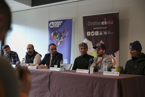 La prova 'andorrana' del Freeride World Tour es va presentar ahir a Ordino.