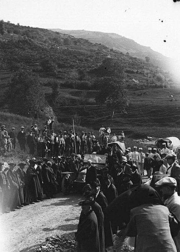 Andorra, Benlloch, Ward, Arajol, Villaró, carretera general, 1913, Torpédo 4M, Clement Bayard, Renault DX
