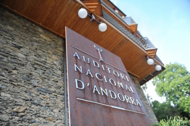 Andorra, pressupost, Ordino, Auditori Nacional, ONCA, ENA, Petits Cantors, piano de gran cua, taula de so, foyer, subsòl, insonorització