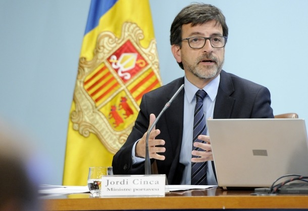 Jordi Cinca, ministre de Finances.