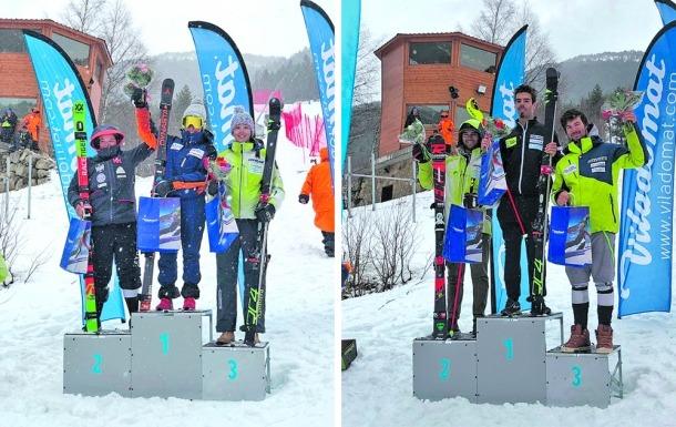 Àxel Esteve i Sissi, campions d'Andorra d'eslàlom
