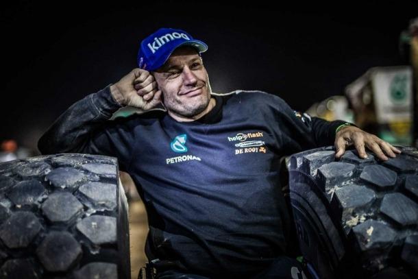 Albert Llovera, la cara de felicitat i de plena satisfacció en assolir un Top-15 al Dakar.