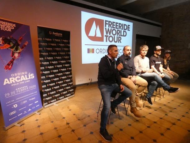 El Freeride World Tour (FWT) 'andorrà' es va presentar ahir a Barcelona.