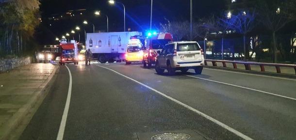 L'accident va tenir lloc ahir al vial de Pobladó, a Santa Coloma, ahir.