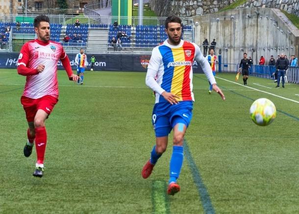 El davanter de l'FC Andorra, Ernest Forgas, va marcar el gol de la victòria de l'FC Andorra al minut 94 contra el Lleida Esportiu.