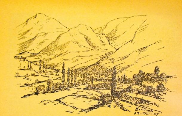 Andorra, Àlbum Meravella, esbós, Prudenci Bertrana, Cadí/Pedraforca, Puigcerdà