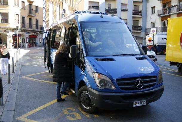 El bus comunal d'Andorra la Vella.