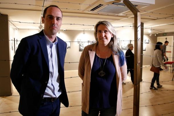 Els Rosenthal, 'madame' Bloch i altres històries de la deportacióEls autors d''Andorrans als camps nazis', ahir a l'exposició 'Més enllà de Mauthausen'.