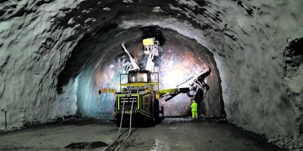 La part perforada del túnel de Tresponts.