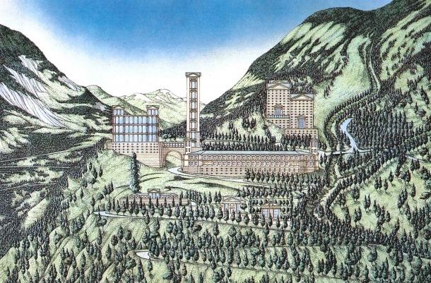 Andorra, la Comella, arquitectura, urbanisme, arxiu comunal, Bofill, centre, Meritxell, Manel Pons