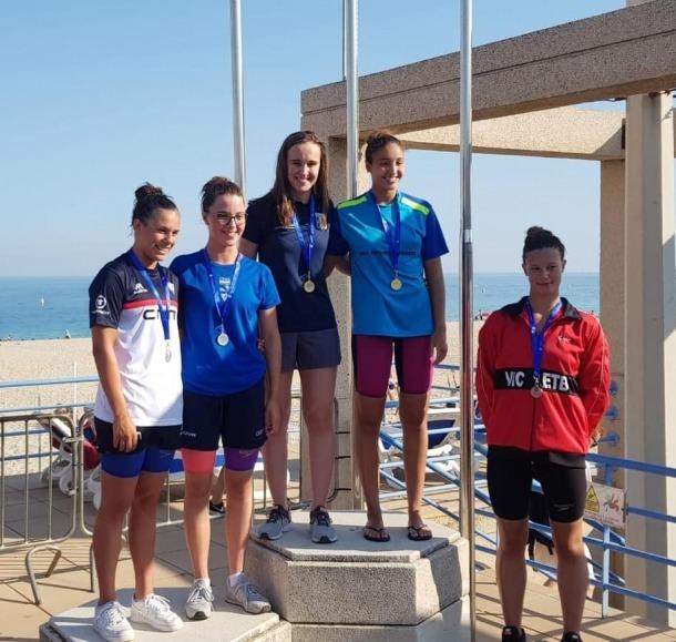 Lea Ricart va pujar al primer calaix del podi en els 50 metres lliures.