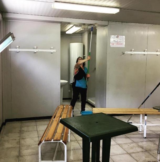La FAF va decidir desinfectar els vestidors del Centre d'Entrenaments de la FAF.