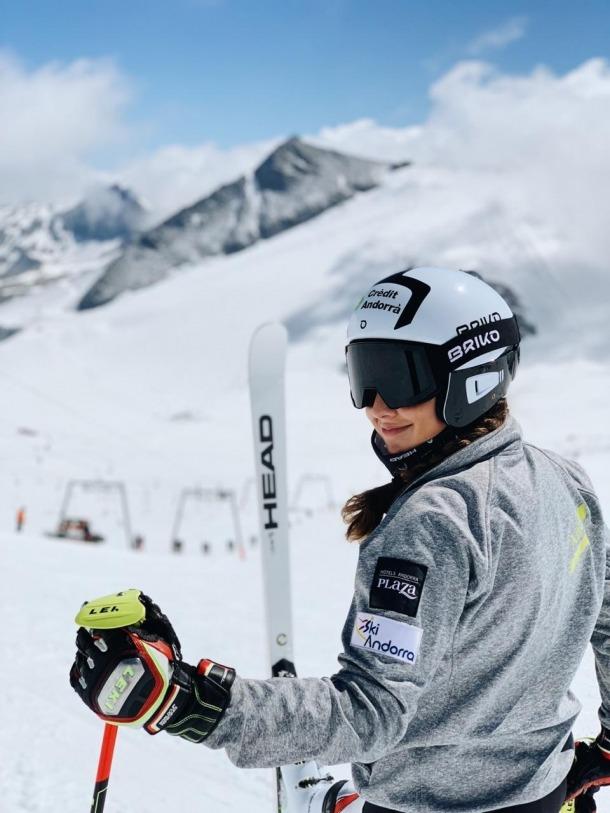 'Cande' Moreno va gaudir de cinc dies d'esquí a Hintertux (Àustria).