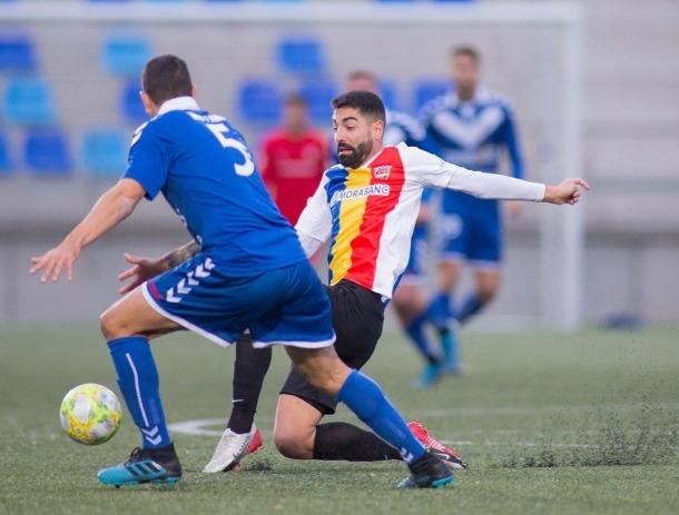 Carlos Martínez, davanter de l'FC Andorra.