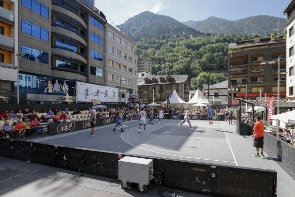 La plaça Coprínceps d'Escaldes-Engordany ha estat l'escenari del Preeuropeu de 3x3 els darrers tres anys.