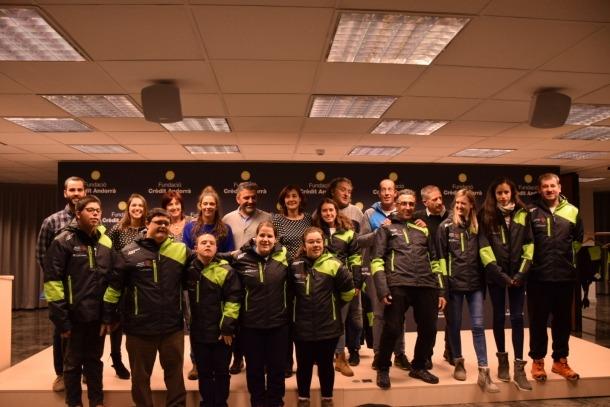 L'equip d'esquí alpí, equipat