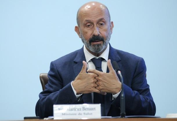 El ministre de Salut durant la compareixença posterior al consell de ministres.