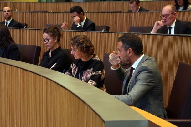 El president del grup parlamentari socialdemòcrata, Pere López, ahir.