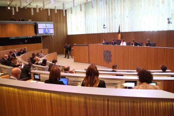 Un moment de la sessió de control d'ahir al Consell General.