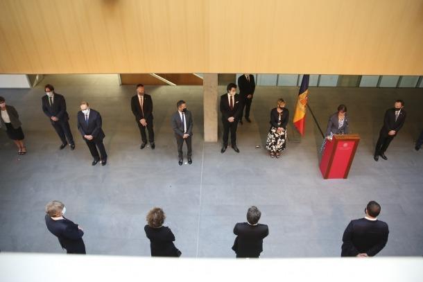 La síndica general en el moment d'oferir el discurs amb motiu del Dia de Meritxell.