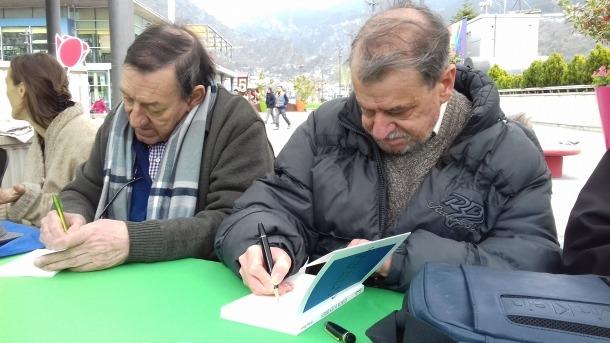 Morell ('Borís I') i Pastor ('Ossos i cendres') firmen exemplars, ahir a la capital.