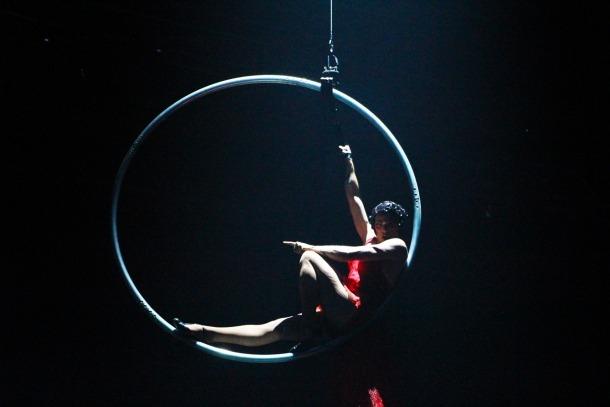 Un instant de l'espectacle que el Cirque du Soleil va oferir l'estiu passat al país.