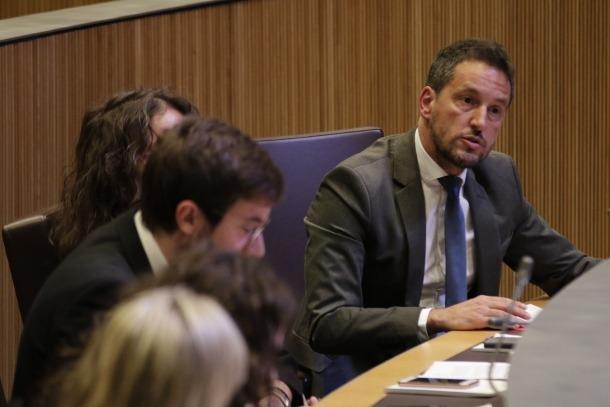 Pere López i altres consellers del PS al Consell General.