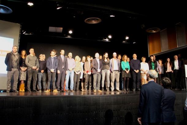 Els integrants de les candidatures de DA al final del congrés de la formació.