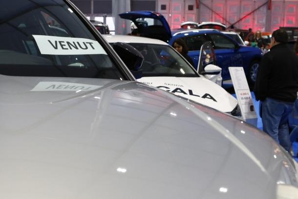 Vehicles per vendre en la darrera edició de la Fira d'Andorra la Vella.