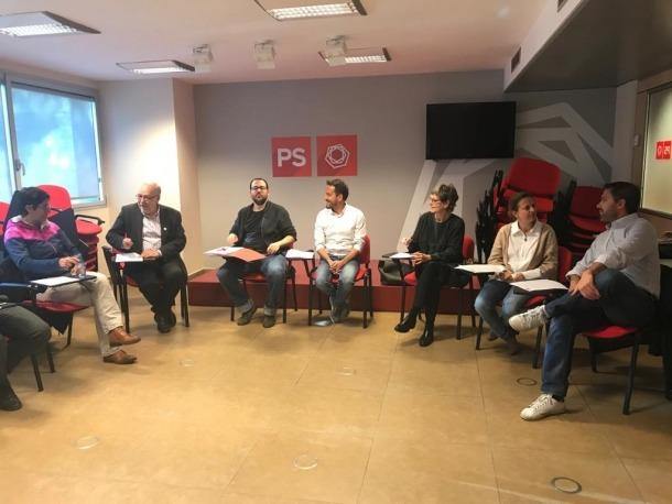 Un moment de la reunió del comitè directiu del Partit Socialdemòcrata d'aquest cap de setmana.