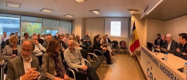 L'assemblea de la Confederació Empresarial Andorrana (CEA).