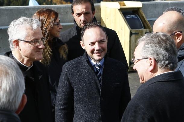 Xavier Espot amb el copríncep episcopal, Joan-Enric Vives.