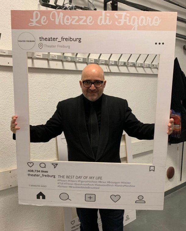 El director d'escena andorrà, el dia de l'estrena de 'Les noces de Fígaro', a Friburg.