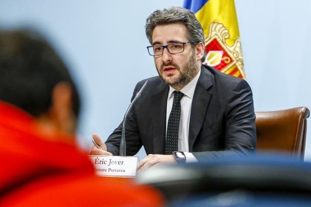 El ministre portaveu, Èric Jover.