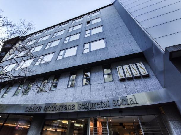 Seu central de la Caixa Andorrana de la Seguretat Social.