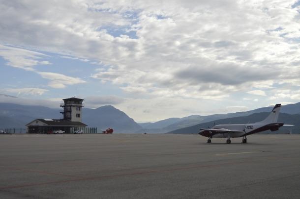 Vista de l'aeroport de la Seu.