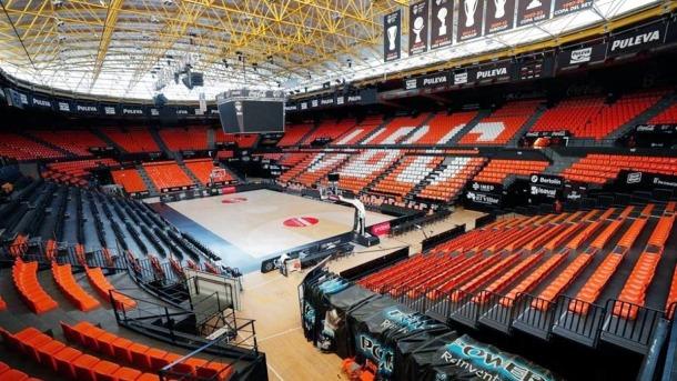La Fonteta acollirà els partits de la fase final de la Lliga ACB a porta tancada per la crisi sanitària per la Covid-19.