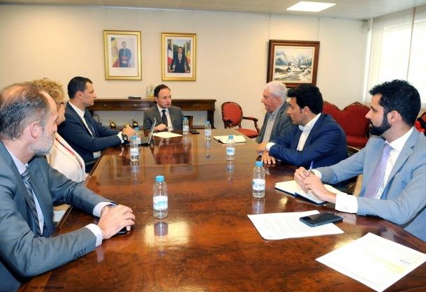 La reunió d'ahir de la CEA amb el cap de Govern, Xavier Espot, i el ministre de Presidència, Economia i Empresa, Jordi Gallardo.